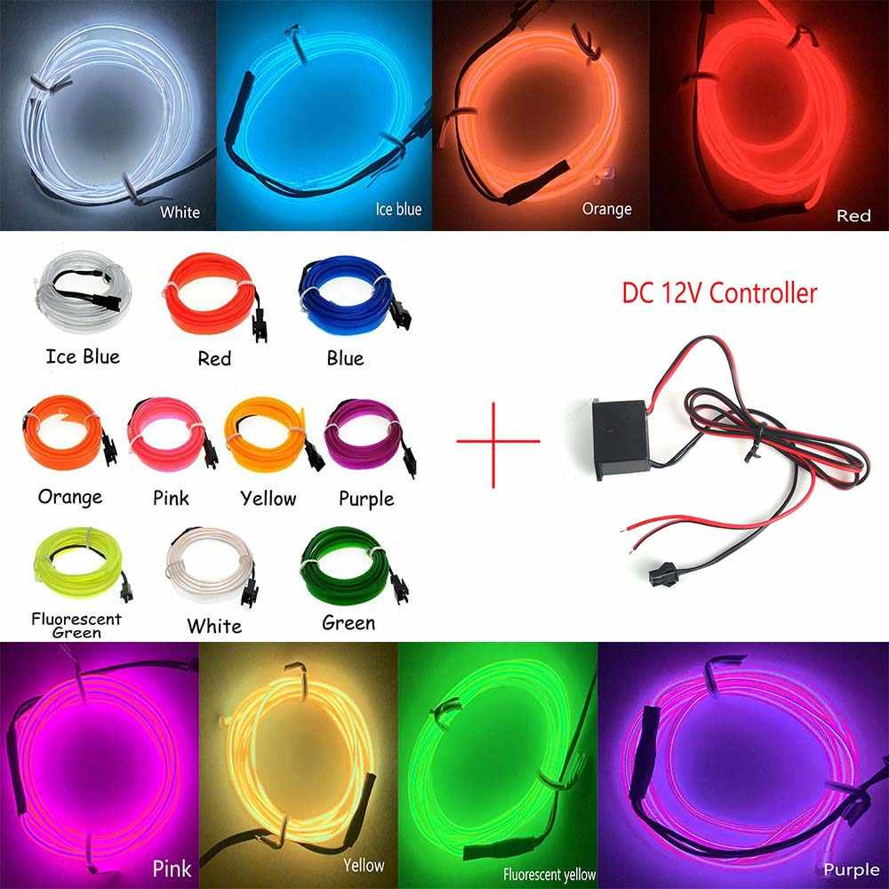 Dekoration 3 V/5 V/12 V Neon Licht Nähen Rand EL Draht Led Dance Party Decor Auto lichter Neon LED lampe Flexible Seil Rohr LED Streifen