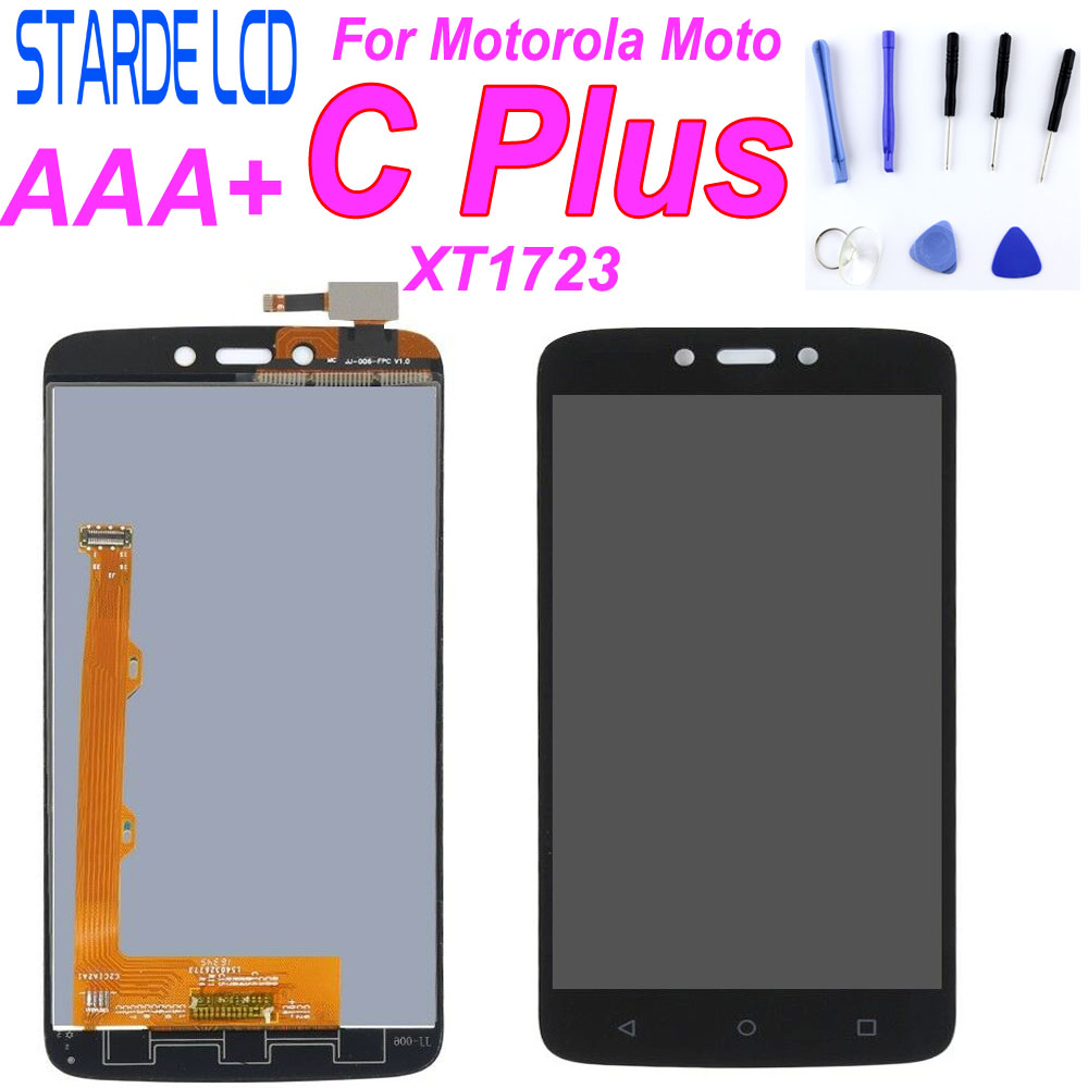AAA+ LCD Display For Motorola Moto C Plus CPlus XT1721 <font><b>XT1723</b></font> XT1724 LCD Display Touch Screen Digitizer Sensor Glass Assembly image