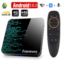 Topsion TP01 חכם טלוויזיה תיבת אנדרואיד 10 4GB 32GB 64GB 4K H.265 מדיה נגן 3D וידאו 2.4G 5GHz Wifi Bluetooth סט top box