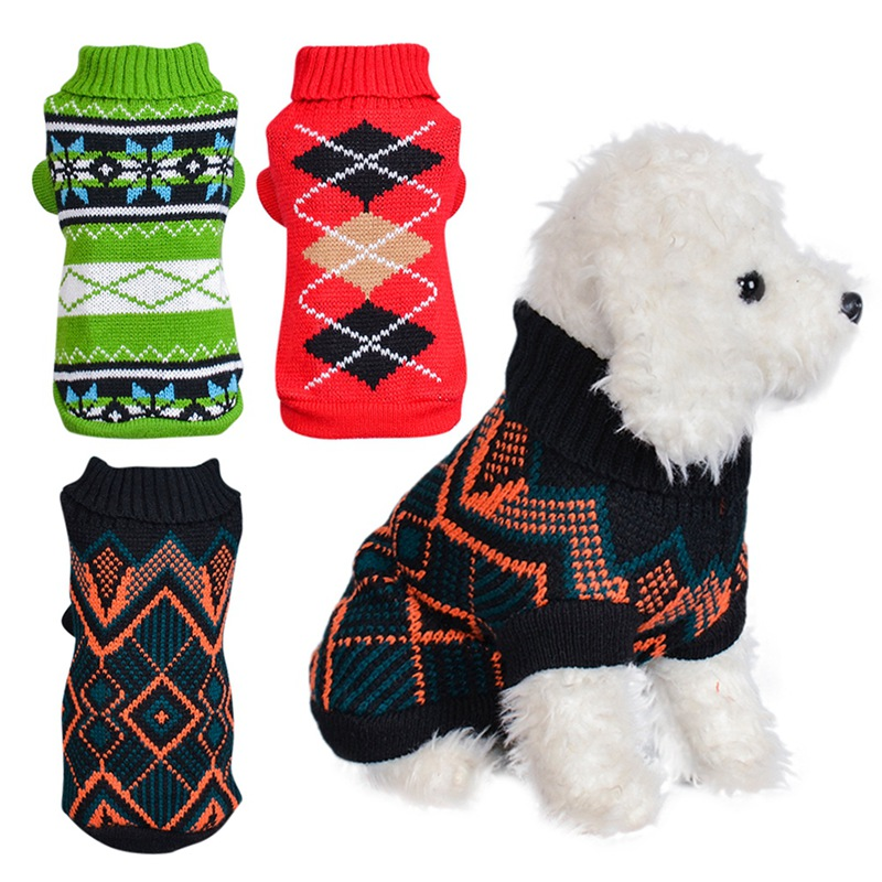 Pet Clothes Dog Winter Keep Warm Jumper Sweater Turtleneck Autumn Winter Dogs Kitten Cats Soft Comfortable Knitwear Apparel