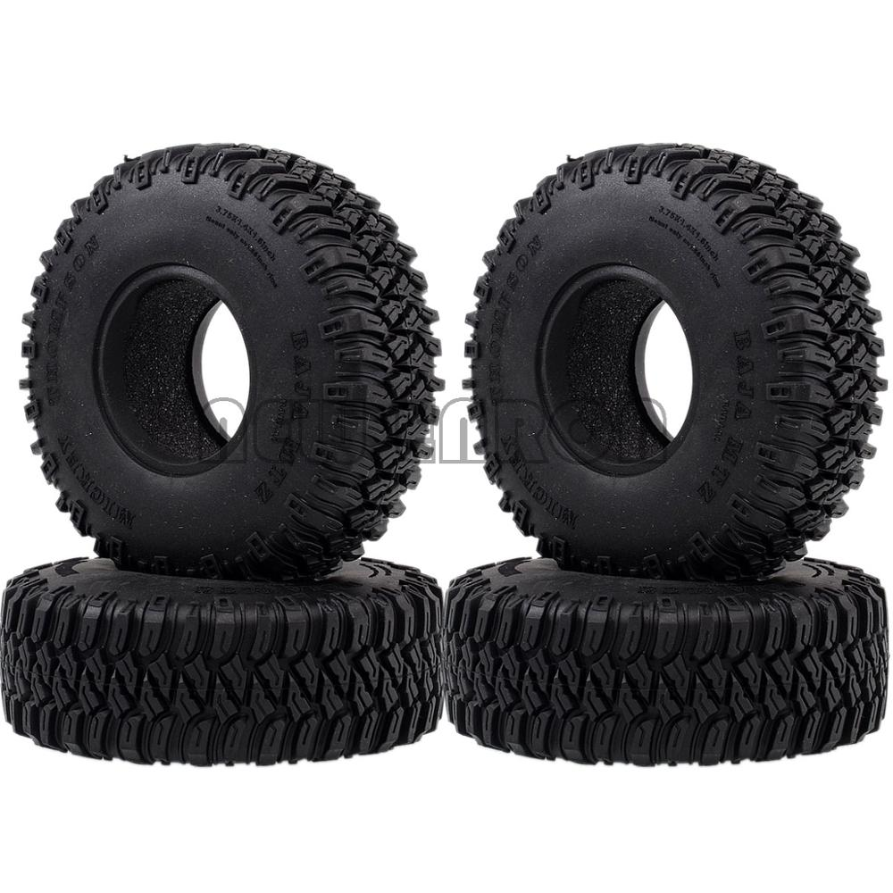"""NEW ENRON 4P 1.55"""" 96MM Tires Tyre Soft Rubber Wheel Tires RC Crawler Car D90 TF2 Tamiya CC01 LC70 LC80 Axial 90069Parts & Accessories   -"""