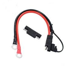 10awg 1015 30cm sae ao conector do cabo de extensão dos conectores do anel o com adaptador reverso da polaridade de sae para o carregador de bateria