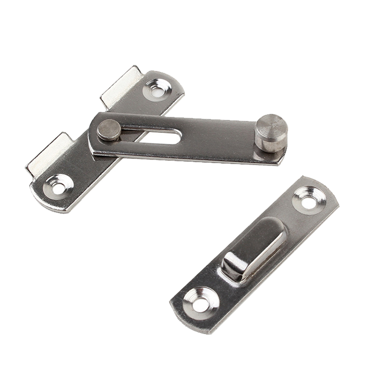 2 Inches Hasp Latch Lock Stainless Steel Home Cabinet Security Multifunction Anti Corrosion Sliding Door Window For Pet Cage