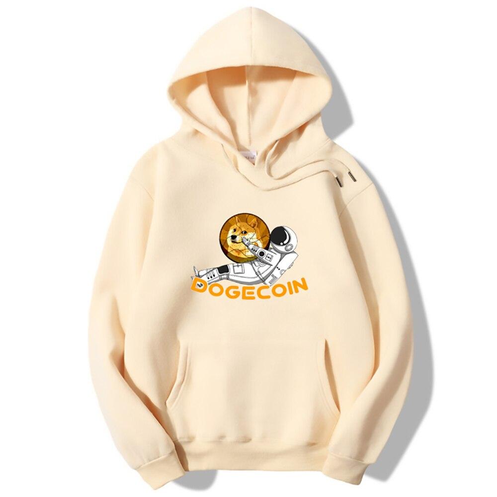 Harajuku Crewneck Sweatshirt Bitcoin Cryptocurrency Art Dogecoin To The Moon Classic Sportswear Vintage Long Sleeve Women Tops 1