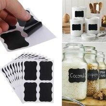 24pcs /Set Blackboard Stickers Craft Kitchen Jar Storage Box Label 5cm X 3.5cm Black Spice Blackboard Sticker Tags