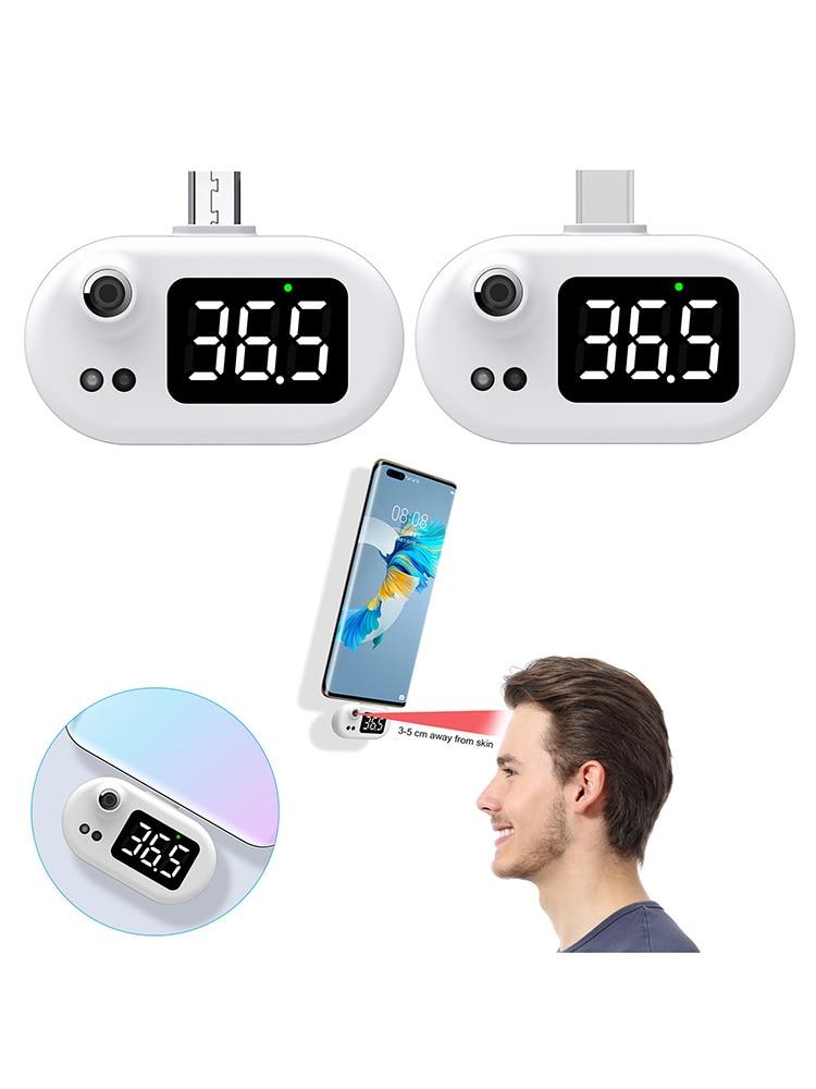 Умный USB термометр светодиодный Дисплей мини мобильный телефонный термометр Бесконтактный инфракрасный термометр для детей с Тип-C шарнир ...