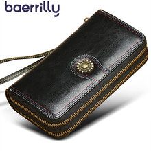 High capacity Women Wallets With Phone Case Coin Purse Girl Wallet Female Genuine Leather Rfid Card Holder Female Clutch Bag