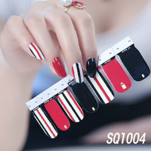 14 Tips Fashion Nail Art Transfer Decals Sticker Korean Version Collection Manicure DIY Polish Strips Wraps for Party