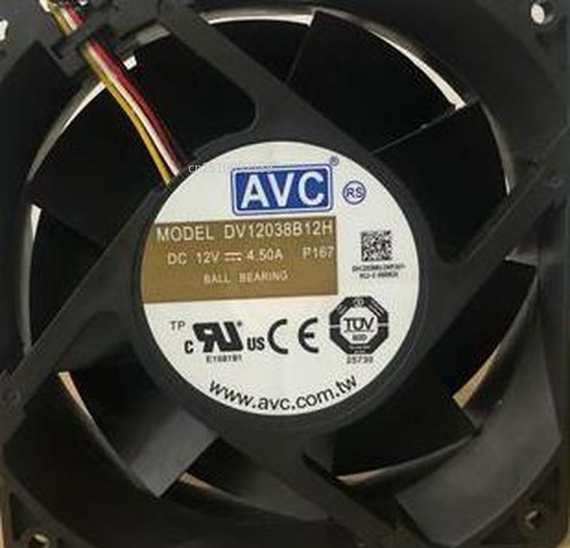 For DV12038B12H Double Ball Bearing Super Violence Booster Cooling Fan DC 12V 4.5A 5200RPM 12038 12CM 120*120*38mm 4 Wires