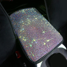 Pad Car-Armrests-Cover Rhinestone Cushion Center-Console Car-Interior-Accessories Vehicle