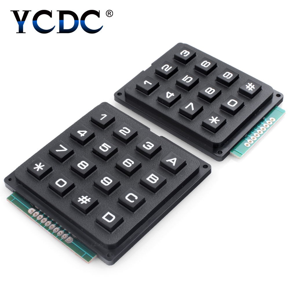 2 Choice 3x4/4X4 Keys Switch Control Matrix Array Module Arduino Favor Electronics 12/16 Keys  Keyboard Module For Arduino