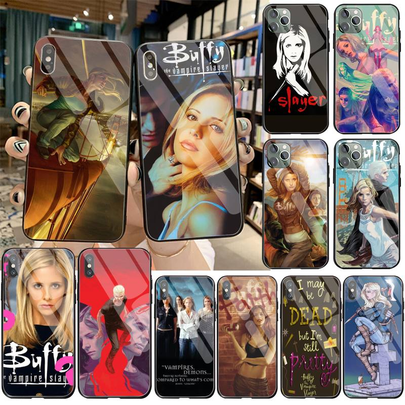 <font><b>Sexy</b></font> Buffy The Vampire Slayer Print Collage Phone <font><b>Case</b></font> Tempered Glass For <font><b>iPhone</b></font> 11 Pro XR XS MAX 8 X <font><b>7</b></font> 6S 6 Plus SE 2020 <font><b>case</b></font> image