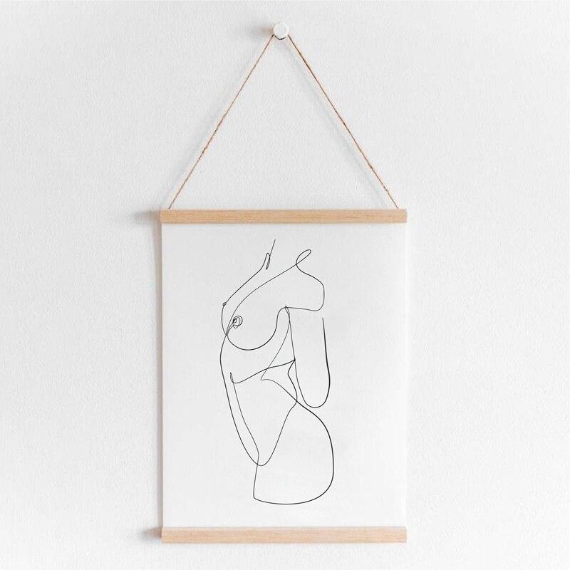Female Line Art Print Living Room Decor