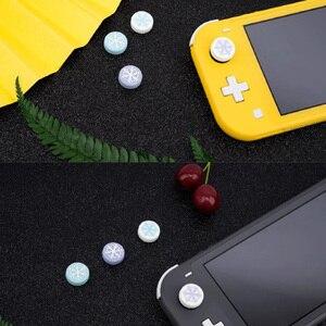 Image 5 - Cute Snowflake Girl Snow flower Thumb Stick Grip Cap Joystick Cover For Nintend Switch NS Lite NS JoyCon Controller Gamepad Case