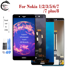 A Cristalli Liquidi per Nokia 6 7 8 Lcd N6 N7 N8 Display Lcd 7 Più Touch Screen Digitizer Assembly per Nokia 1 2 3 5 Display N1 N2 N3 N5 Lcd