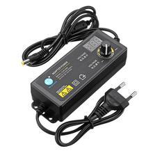 Ue usa 60W 3 12V 5A uniwersalny zasilacz regulowane napięcie wyświetlacz regulowana moc zasilania LCD