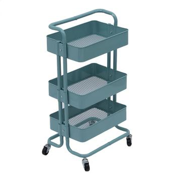 2019 Kitchen Trolley 3 Layers Office Cart Rolling Storage Rack Workshop Trolley With Four Wheels Portable Tool Storage Cart