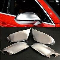 4 pçs/set esquerda & direita substituição do lado do carro retrovisor espelho tampas capa guarnição para audi a7/s7/rs7 2011-2017 carro styli