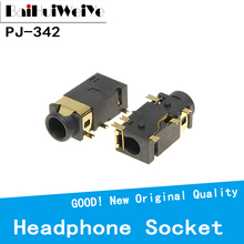 PJ-342 Audio-Socket Gold-Plated 10pcs/Lot Surface-Mounted Double-Track 6-Feet