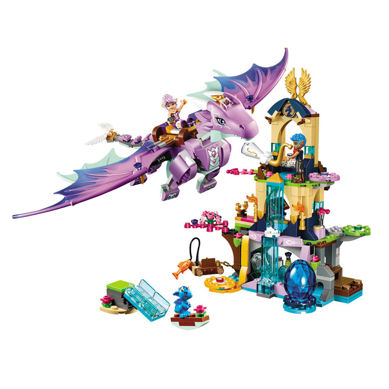 Elves The Dragon Sanctuary Building Bricks Blocks DIY Educational Figures Toys Compatible with 41178 Friends image