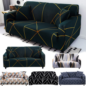 string printed sofa covers for living room elastic stretch slipcover sectional corner sofa covers 1/2/3/4-seater(China)