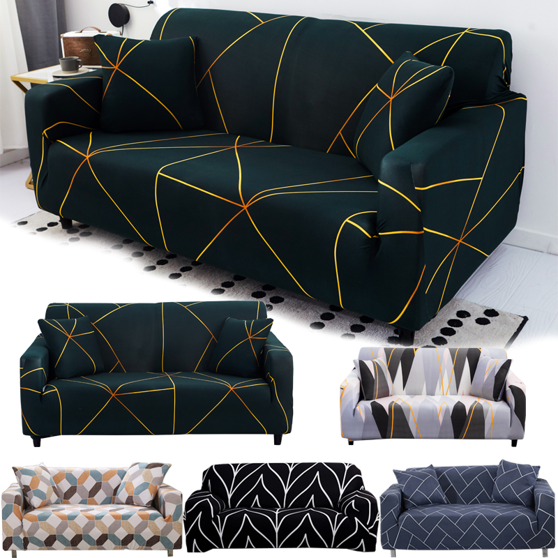 String Printed Sofa Covers For Living Room Elastic Stretch Slipcover Sectional Corner Sofa Covers 1/2/3/4-seater