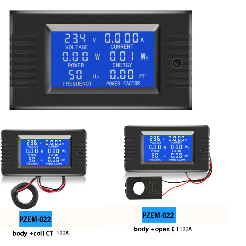 DC 80~260VAC 0-10A/0-100A LCD Display Digital Current Voltage Power Energy Meter Multimeter Ammeter Voltmeter