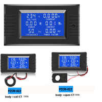 Dc 80 ~ 260vac 0-10a/0-100a lcd 디스플레이 디지털 전류 전압 전력 에너지 미터 멀티 미터 전류계 전압계