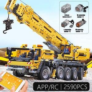 20004 APP Control Technik Auto Kompatibel Mit 42009 Mobile Kran MK II Set Kind Weihnachten Spielzeug Geschenke Bausteine Ziegel kits