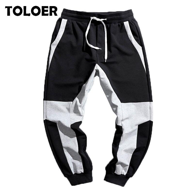 Harajuku Jogger Pants Men Retro Color Block Patchwork Hip Hip Harem Track Streetwear Thin Sweatpant Trousers 2020 Spring Pants