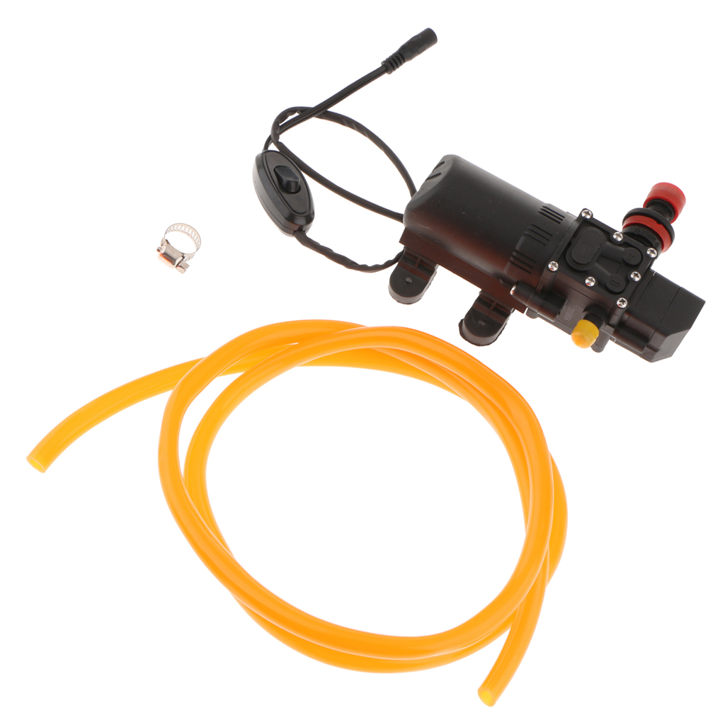 DC 12V 60W Motor High Pressure Single Head Diaphragm Water Pump 6L/Min
