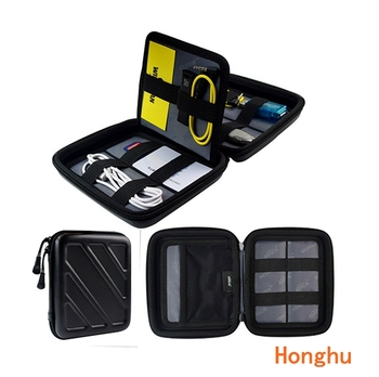 Storage Bag Case for Earphone EVA Headphone Case Container Cable Earbuds Storage Box Pouch Bag Holder Electronic Gadgets 165x150