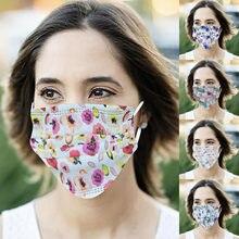 Novo estilo tecido máscara multi-elemento impresso adulto máscara descartável 50pc para o conforto e controle de orelha rímel tejida de novo estilo