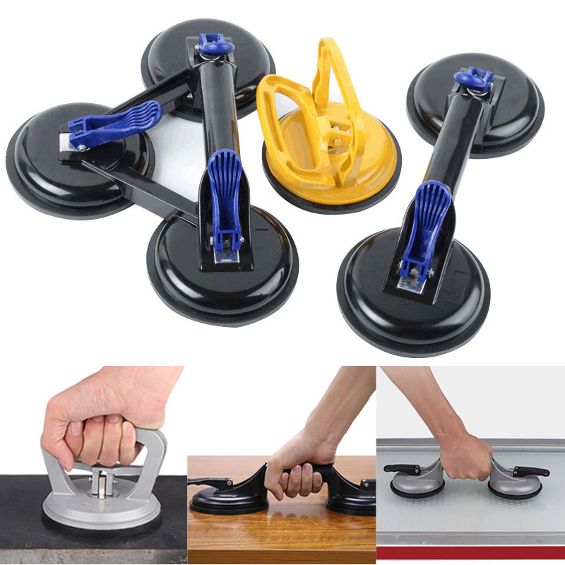 HOT Vacuum Suction Cup Glass Lifter Vacuum Lifter Gripper Sucker Plate For Glass Tiles Mirror Granite Lifting New TI99