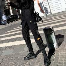 Брюки карго женские с эластичным поясом уличная одежда облегающие