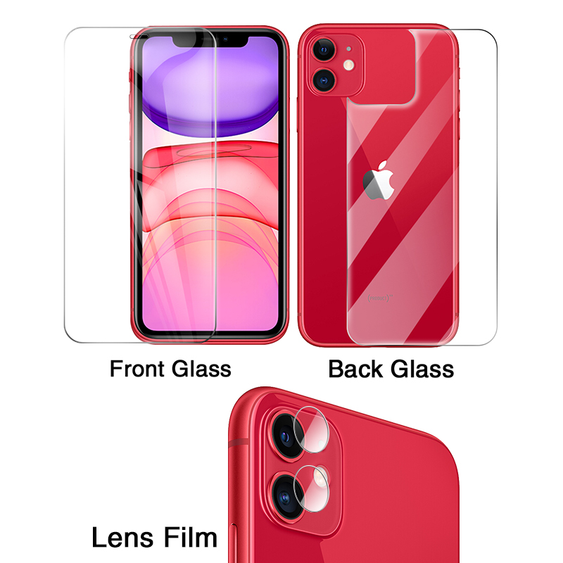 HD Front+Rear Back+Lens Camera Film For IPhone 11 PRO X XR XS MAX Rear Screen Protector For IPhone 11 PRO MAX X Protective Film