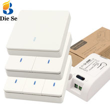 Diese Wall Switch 433Mhz wireless rf 86 wall panel transmitter Safety Switch and AC 110V 220V relay receiver for Light LED Lamp