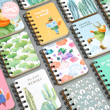 Mr Paper 24 Designs Hardcover Pocket Coil Notebooks Moose Unicorn Cactus Forest Leaves Daily Planner Easy to Carry