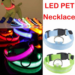 5 tamanhos de bateria led coleira de cachorro anti-perdido/acidente de carro evitar colar para cães cachorros gatos coleiras luminosas suprimentos para animais de estimação