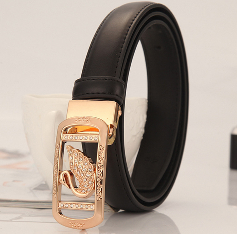 2020 Simple Joker Korean Decoration Korean Smooth Buckle Diamond Tide Fashion Personality Denim Belt