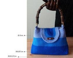 الخيزران حقيبة محفظة إطار مقبض الجملة الخيزران حقيبة مقبض
