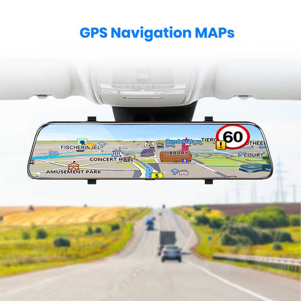 10 ''GPS 車 DVR ミラー自動レコーダー FHD 1080 アンドロイド 8.1 車のリアビューミラーナイトビジョンバックミラーミラー車のミラービデオ