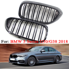 MagicKit Replacement G30 Front Bumper Grill For BMW 5 Series M5 G31 G32 520i 530i 540i ABS 2slat Matte Black Front Kidney Grille for bmw g30 m5 style kidney abs plastic black and m colour auto car styling front racing grill grille for bmw g30 new 5 series
