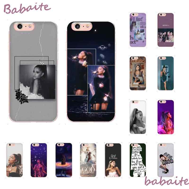 Babaite พระเจ้าผู้หญิง Ariana Grande DIY Luxury Protector สำหรับ iPhone8 7 6 6S Plus X XSMAX 5 5S SE XR 11 11pro 11promax