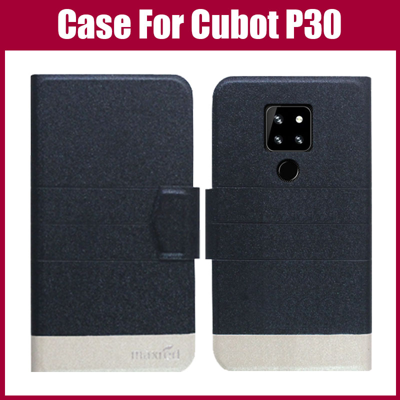 Hot Sale! Cubot P30 Case 5 Colors Flip Ultra-thin Fashion Colorful Leather Phone Protective Case For Cubot P30 Cover(China)