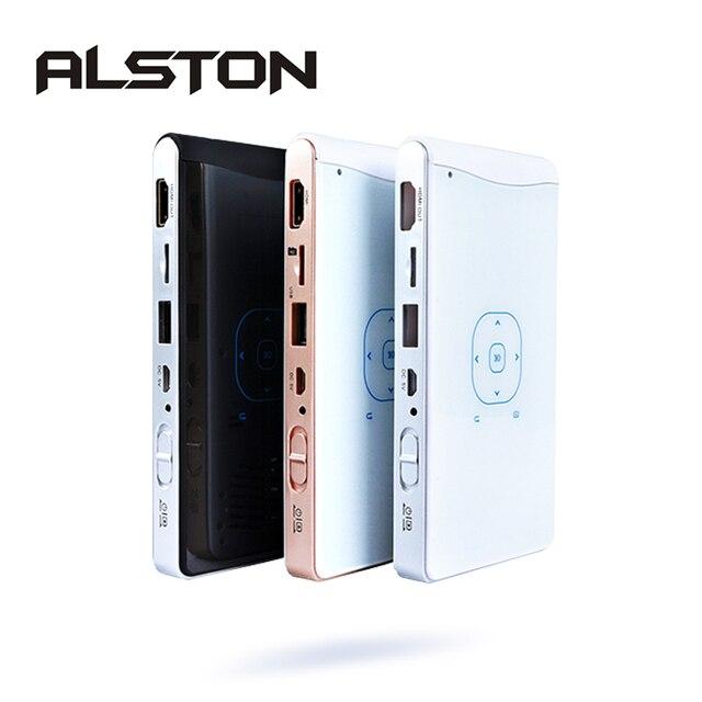 ALSTON DLP100WM جهاز عرض معالجة رقمية للضوء صغير أندرويد متعاطي المخدرات المدمج في واي فاي بلوتوث HDMI دعم 1080P المسرح المحمولة