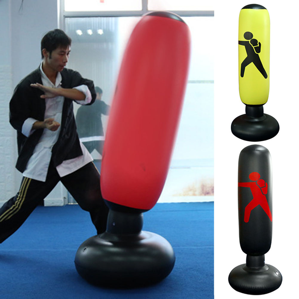 Boxing Bag PVC Elastic Inflatable Tumbler Type Increase Agile Punching Sandbag Children Adult Folding Training Sandbag