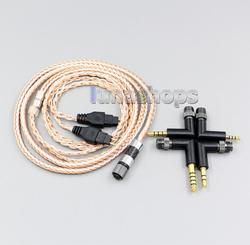 4 in 1 Plug 16 Cores OCC + Pure Silver Plated Cable for Sennheiser HD580 HD600 HD650 HDXXX HD660s LN006239