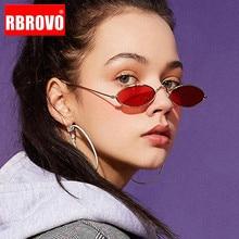 RBROVO 2018 Small Frame Oval Sunglasses Women Brand Designer Ocean Lens Mirror Glasses Alloy Party Oculos De Sol Feminino UV400