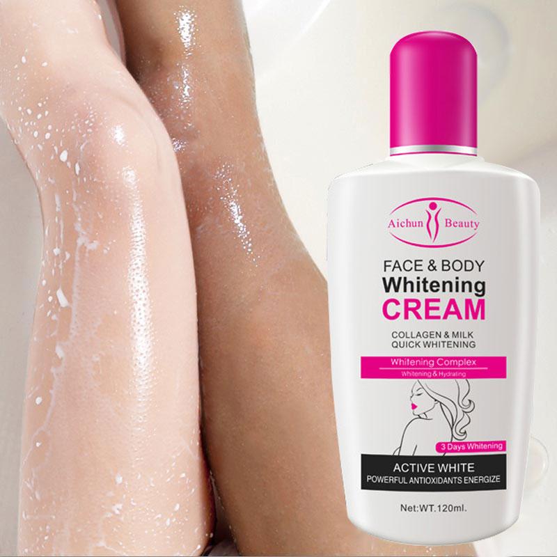 Коллагеновый молочный отбеливающий крем для лица и тела отбеливающий увлажняющий лосьон для тела Осветляющий крем для кожи Автозагары и бронзаторы для тела      АлиЭкспресс